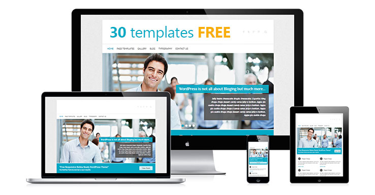 WordPress template responsivo gratuito