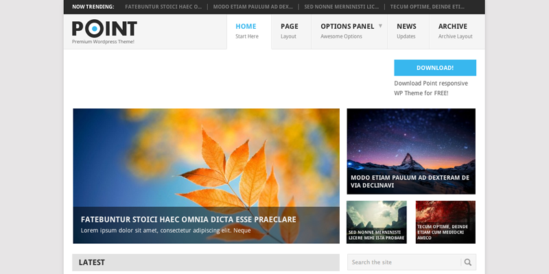 Template Responsivo Gratuito WordPress